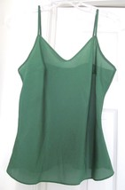 Talbots Woman Petites Cami Top Pullover 100% Lightweight Polyester Green Xp - $24.95