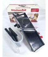 Kitchen Aid 4 Piece Mandoline Slicer Set 669963 Black EUC - $39.19