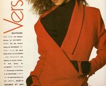 1988 Gianni Versace Fashion Supermodel Christy Turlington Vintage Print Ad 1980s