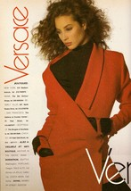 1988 Gianni Versace Fashion Supermodel Christy Turlington Vintage Print ... - $8.24