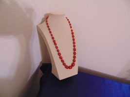 """Macys 22.5"""" Red Cascading Bead Necklace L227 - $9.59"""