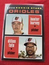 2020 Topps Heritage Hunter Harvey/Dillon Tate RC #362 Baltimore Orioles - $1.10