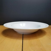 Mikasa Italian Countryside Rim Soup Bowl White Ribbed Scroll DD900 - $4.94