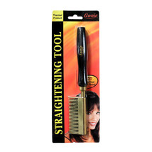 Annie Thermal Straightening Comb Wide Teeth  Copper Plate Black/Gold #5510 - $17.47