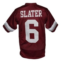 AC Slater #6 Bayside Saved By The Bell New Men Football Jersey Maroon Any Size image 5