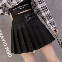 *NEW* High Waist Pleated Mini skirt  military style with 2 belt  - $27.00+