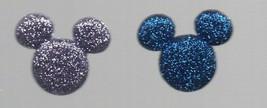 Earrings - Mickey Mouse Posts - Blue & Purple Glitter - Disney  Hypoallergenic - $2.45