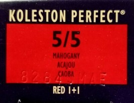 Wella Koleston Perfect Permanent Creme Haircolor 1+1 5/5 Mahogany - $6.79