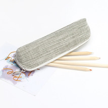 Cosmetic Makeup Tool Bag Pencil Brush Case Coin Pouch Plain Canvas Zippe... - $8.50