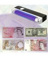 Counterfeit Billetes Falsos Detector Portable Handheld UV Lamp Money Cur... - $9.20