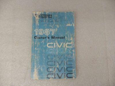 HONDA CIVIC     1987 Owners Manual 17093