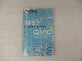HONDA CIVIC     1987 Owners Manual 17093 - $13.81
