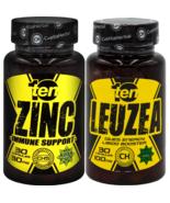 TEN Zinc Citrate Strong Immune System Bones + TEN Leuzea Maral Root Musc... - $30.68