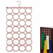 Hanging Ring 28 Hole Holder Metal Tone Multifunction Hook Hanger For Sca... - $10.88