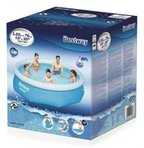Bestway 10 ft. Round 30 in. Deep Easy Set Inflatable Pool, Blues image 3