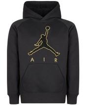 Jordan Big Boys Jumpman Fleece Hoodie, NWT, Black/Gold, Small (8) - $44.59
