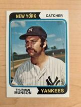 1974 Thurman Munson Topps Baseball Card #340 (Original) - $7.92