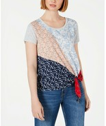 Style & Co. Women's Mixed-Print Floral Side-Tie T-Shirt NWOT XXL - $10.56