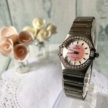 Omega Constellation Diamond Watch Pink Shell antique with box, Guarantee card - $3,176.90