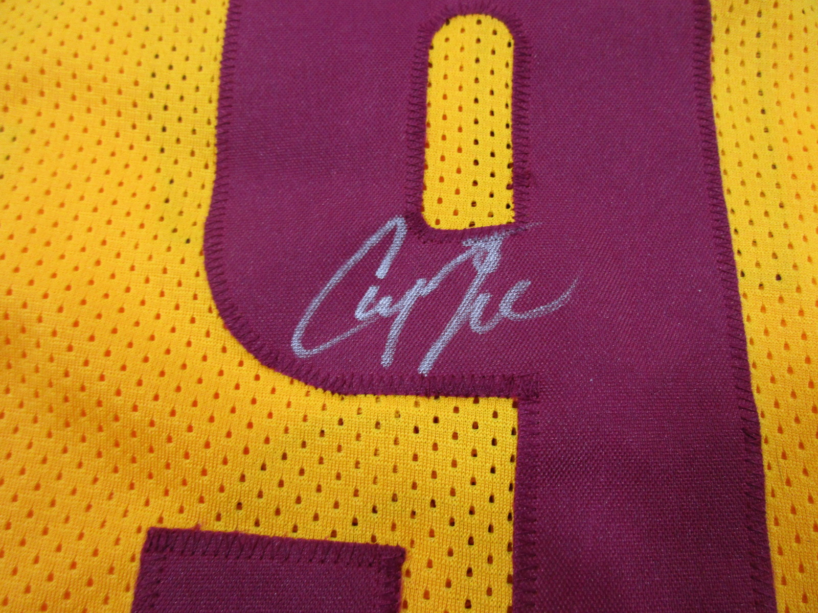 c4d972388 CHANNING FRYE - CLEVELAND CAVALIERS - HAND SIGNED CUSTOM BASKETBALL JERSEY  - COA