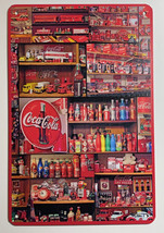 "Coke Coca-Cola Display Logo Wall Metal Sign plate Home decor 11.75"" x 7.8"" image 1"