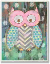 The Kids Room by Stupell Distressed Woodland Owl Rectangle Wall Plaque, ... - $45.44