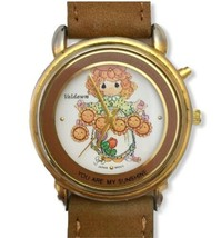 Precious Moments YOU ARE MY SUNSHINE 1996 #060 Leather Band Japan MOVT V... - $14.01