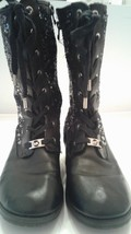 Michael Kors Women's Black Sequined Boots Size 5 - £45.01 GBP