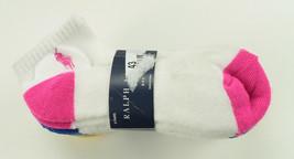 RALPH LAUREN KIDS GIRLS 6 PAIRS WHITE ANKLE SOCKS 8-9.5 - $15.83