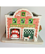 Fire Station House Dalmatian Tealight Candle Holder Village PartyLite P7... - $15.79