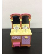 Fisher Price Loving Family Dollhouse Double Sink Vanity Kids Bathroom 20... - $9.89