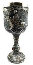 Medieval Royal Charging Horse Knight Chivalry Wine Drink Goblet Chalice ... - $22.99