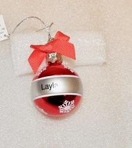 "Christmas Keepsake Ornaments Red Ganz 2"" x 1 1/2"" You Choose Many Names ... - $5.49"