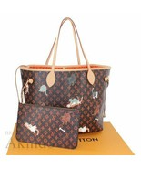 Louis Vuitton Neverfull Bag Catogram MM Tote Monogram Grace Coddington M... - $4,148.10