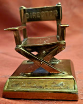 """Vintage Director's Chair Paperweight 2""""  Plaque removed Bottom Front image 5"""