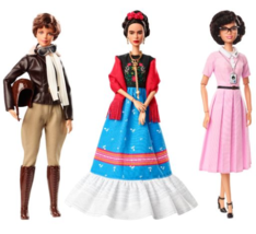Barbie Inspiring Women Series  Frida Kahlo, Katherine Johnson & Amelia E... - $290.99