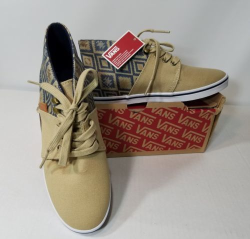 VANS CAMRYN SLIM NATIVE TAOSE TAUPE OMBRE BLUE MIDTOPS VN00SDVG1G WOMEN'S SIZE 5