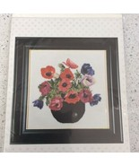 Thea Gouverneur Cross Stitch Kit Anemone Flower 1064 Linen Floss Beads C... - $31.47