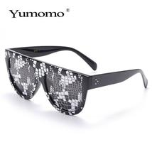 Sexy square sunglasses ladies fashion python pattern oversized sunglasses men an image 7
