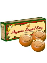3 packs (1 Pack =3 X 150gms), Mysore Sandalwood Soap With Pure Sandalwoo... - $47.50