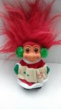 "Vintage Christmas Caroling Troll Russ Troll Doll Russ Vintage Troll Red Hair  4"" - $14.99"