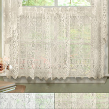 Hopewell Heavy Floral Lace Kitchen Window Curtain 36 x 58 Tier - $16.99