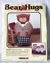 Vintage Bear Hugs Chester Papa Teddy Bear Dimensions Needlepoint Kit  10... - $23.70