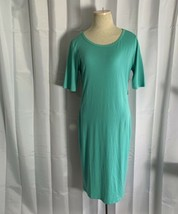 LuLaRoe LLR Julia Dress Fitted Solid Mint Green Size Medium - $24.72