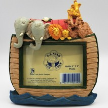 Jim Shore Designs Noah's Ark Picture Frame Nursery Baby Photo SS And Cre... - $23.24