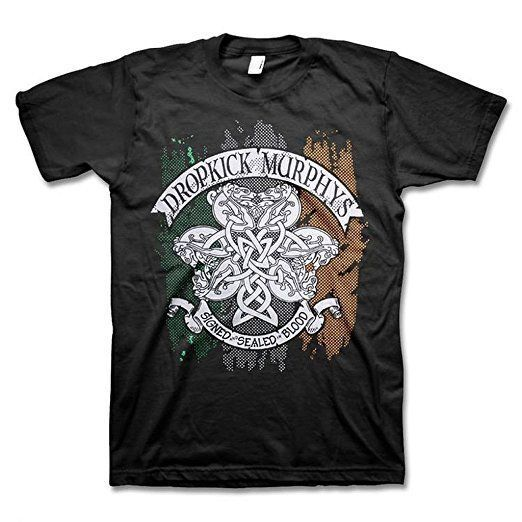 Dropkick Murphys Knotwork Flag Tee Shirt Black Irish ...