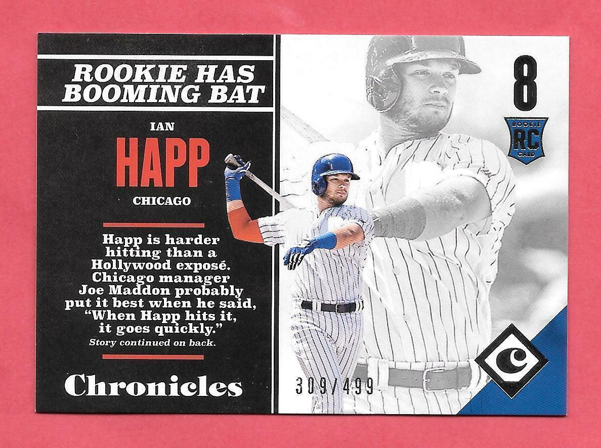 2017 Ian Happ Panini Chronicles Rookie /499 - Chicago Cubs