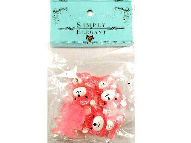 Portofino Int'l Trading Sparkling Pink Teddy Bear Flatback Shapes #28-0029PK