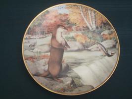 OTTER Collector Plate PETER BARRATT September THE WOODLAND YEAR Franklin... - $29.02