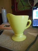 VINTAGE ANCHOR HOCKING FIRE KING CHARTREUSE/YELLOW GREEN CREAMER (ONLY) - $7.03